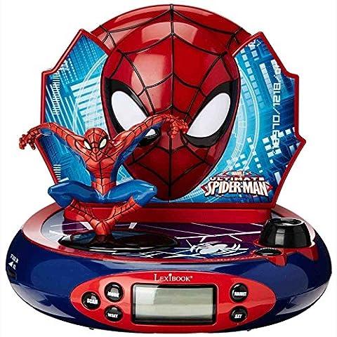Spiderman-Radio Wecker Projektor (Zeit Spider Man Wecker)