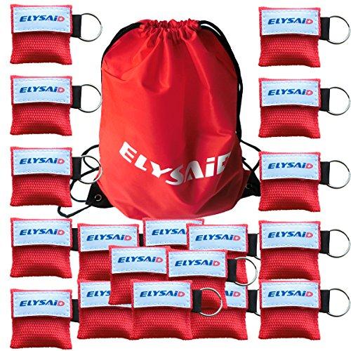 100PACK CPR Maske Face Shield mit Schlüsselanhänger und Rückschlagventil für Erste Hilfe/Rescue, CPR Atmen Barriere Mund zu Mund SCHUTZ Wiederbelebung Schild in einem Schlüsselring Beutel (Mund-barriere)