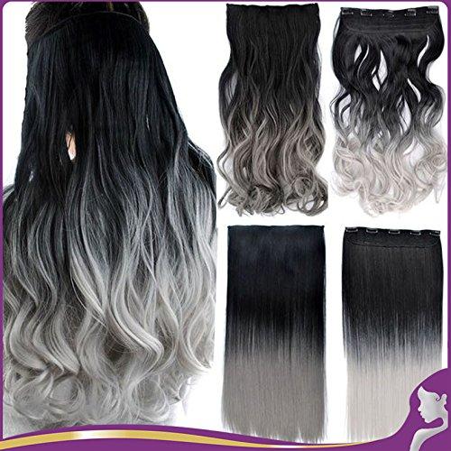 extension-per-capelli-lisci-due-toni-di-colore-dal-nero-al-grigio-scuro-60-cm-110-g-5clip-per-tutta-