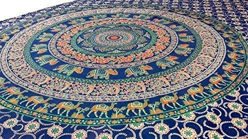 Preisvergleich Produktbild Handicrunch Indischer Elefant Mandala Tapisserie,  hippie,  Bettdecke, ,  Bed Aufstrich,  Wand-Kunst,  Handgemacht Bettlaken,  Hippie Wandbehang Dekoriert Wurf,  Vorhang