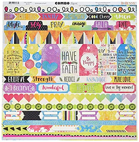 BoBunny Believe Combo Stickers 12-inch x 12-inch, Other,