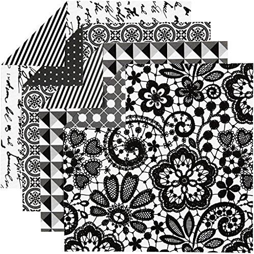 Origamipapier Sortiment Paris 25671 by Vivi Gade von Creativ Company - Faltpapier für Falttechniken. 4 Designs. 50 Blätter á 15 x 15 cm. 80g/qm.