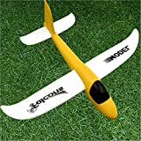 Yellow 26cm : Plane Model Kids Toys Hand Launch Throwing Glider Aircraft Inertial Foam Airplane Toy