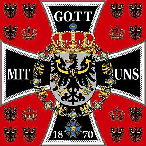 U24 Fahne Flagge Standarte des Königs von Preussen 150 x 150 cm