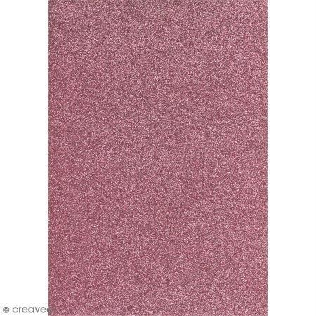 Preisvergleich Produktbild Glitterkarton 20x30cm brillant, 1 Bogen, rosa