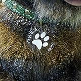 Acrylglas Hundemarken individuell graviert Anhänger Namensschilder, Form:Rund