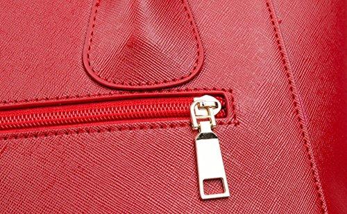 Borsa Di Plastica Del Sacchetto Del Messaggero Della Spalla Di Svago Di Modo Delle Signore Sacchetto Di Tote Solido Di Colore Solido Red