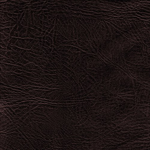 BROWN 54 inch wide Leatherette Vinyl Fabric Fire Retardant Faux Leather Upholstery Material Sold by the metre by Discover Direct - Royal Black Vinyl Seat