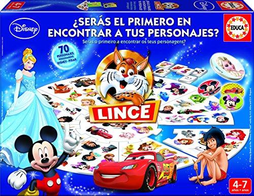 Educa Lince 16585 - Gioco da tavolo con modello Disney (importato dalla Spagna)