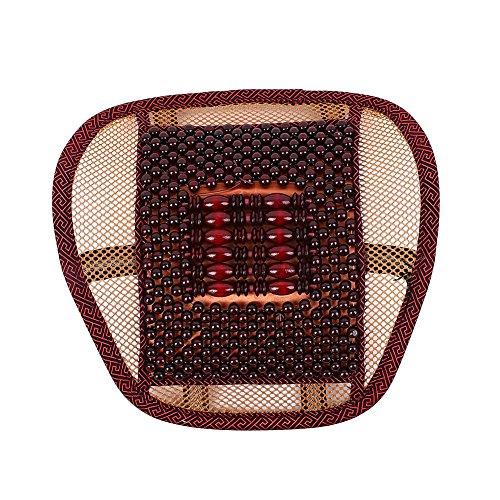 Sedeta® protecteur siège arrière de voiture Siège de massage en bois Perle Couverture taille coussin bord couleur rouge jaune