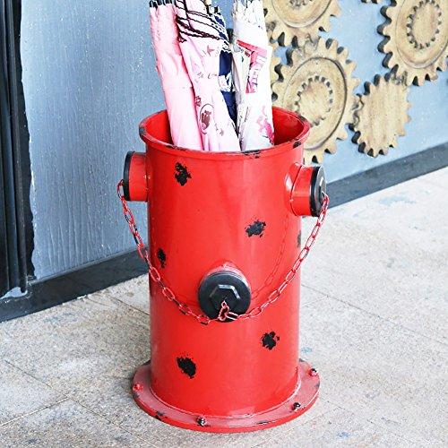Stockage debout Rétro nostalgique parapluie stand bar à la maison café long/court poignée parapluie support rack (Couleur : Red)