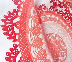 IKEA lYCKOAX parure de lit parure housse de couette - 140 x 200 cm et 80 x 80 cm blanc/orange rouge 100 %  satin de coton tissé 207 fils avec housse par deluxe