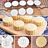 Yubusiness 7Pcs Stamps 50g Round Flowers Moon Cake Mold Mould Pastry Mooncake Hand DIY Tool...