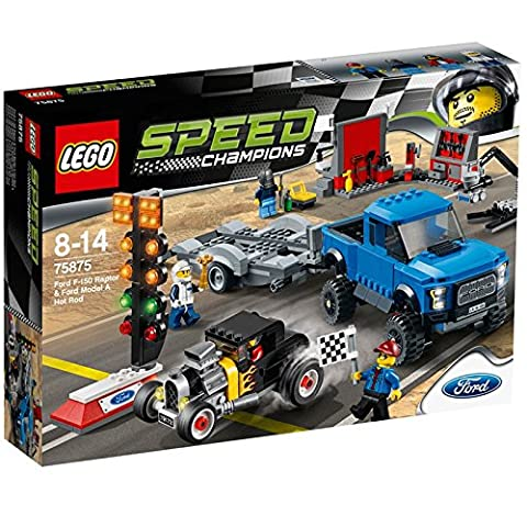 Lego - 75875 - Speed Champions - Jeu De Construction - Ford F-150 Raptor Et Ford Modèle A Hot Rod