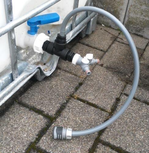 s196 W13593ys2146 Bec Adaptateur avec robinet, IBC Adaptateur de réservoir d'eau de pluie de Accessoires de conteneurs Mamelon de Bidon
