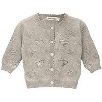 Baby Mood Goljus, 100 % coton, col rond, bords en dentelle, tricotés à la main en forme de cœur sur l'avant, ouverture…