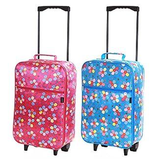 Slimbridge-Leichtgewicht-Kinder-Handgepck-Trolley-Koffer-Bordgepck-Reisekoffer-Superleicht-Gepck-mit-Rollen-55-cm-950-Gramm-27-Liter-auf-2-Rdern-Barcelona