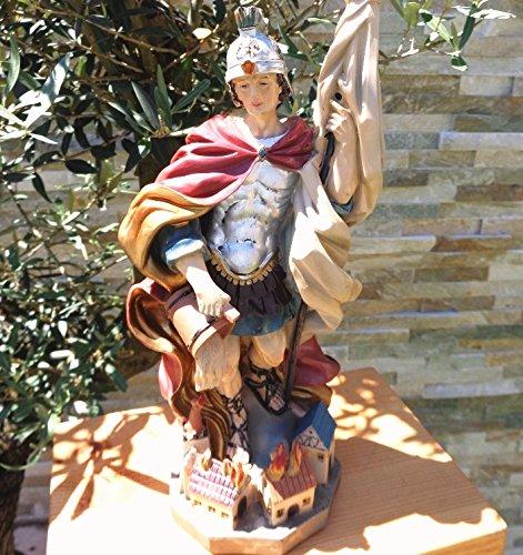 35 - 38 cm ÖLBAUM - PREMIUM - Heiligenfigur Heiliger Florian, mit Wasserkanne und Speer,...