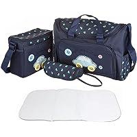 FakeFace Oxford Gewebe Cartoon 4er-Set Babytasche Wickeltasche Mutter Windeltasche Handtasche Schultertasche…