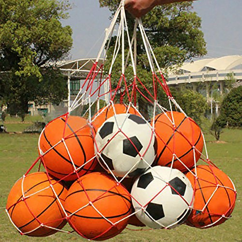 Storage Mesh Bag, Extra große Heavy Duty Soccer 15 Balls Netztasche für Sport, Kind Spielzeug Mesh Net Storage Bag Organizer - Perfekte Netztasche für Eltern oder Coach, so dass es einfach zu transportieren und halten Ihre Sportausrüstung organisiert