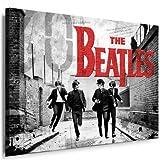 "Bild auf Leinwand ""Beatles"" Lennon - Bild 100x70cm k. Poster ! Bild fertig auf Keilrahmen ! Pop Art Gemälde Kunstdrucke, Wandbilder - Bilder zur Dekoration - Deko. Musik - Stars Kunstdrucke"