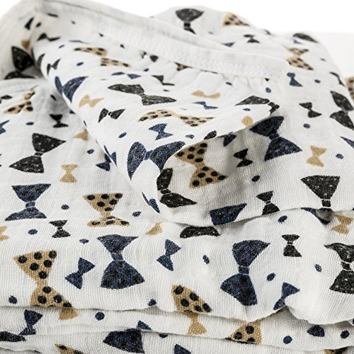 miraclebaby 100% Baumwolle Musselin, Swaddle Decke Packungen für Winter, 120x 120cm, 4Schichten