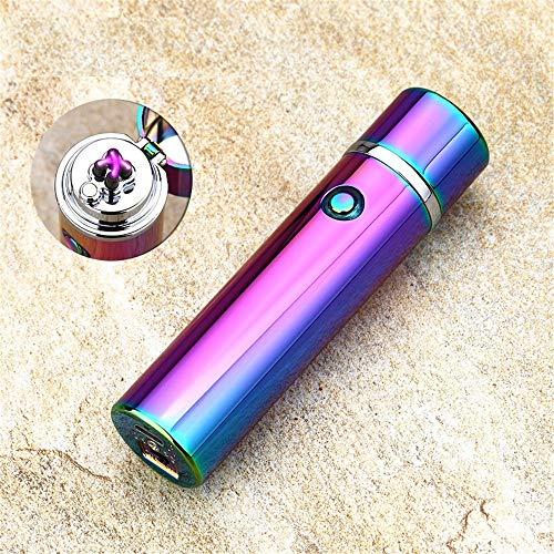 XXSZKAA USB-Akku-Doppelbogen-Feuerzeug/Metall Winddicht Zigarettenanzünder/Kreative Zylindrische Feuerzeuge, A3