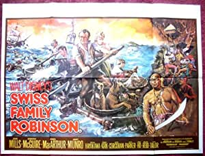 Collectible Swiss Family Robinson: 1976 Rerelease Quad Film Poster