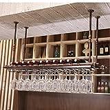 SKC Lighting-Estantería de vino Barra de hierro colgante