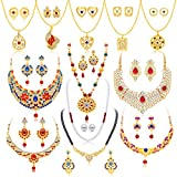 #10: Sukkhi Jewellery Sets for Women (Golden) (294CB2600)