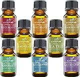 Art Naturals 8 Essential Oils-100% Pure-Peppermint, Tea Tree, Rosemary, Orange, Lemongrass & More