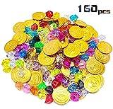 Huker Conjunto de Juguete de Tesoro Pirata, 80 Piezas de Monedas...