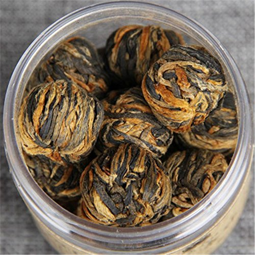 60g (0.13lb) China Yunnan Handmade Dianhong Black Tea, Small gold ball, Canned black tea, Chinese tea gongfu red tea Dian hong Tea Green Food