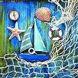 20serviettes Maritim Bateau Nautik coquillages océan poisson de mer manger 33x 33cm
