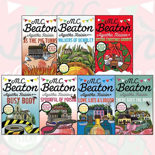 M.C. Beaton Agatha Raisin Collection 7 Books Bundle With The Perfect Gift Journal (Agatha Raisin and the Walkers of Dembley,Agatha Raisin and Love, Lies and Liquor,Agatha Raisin and the Busy Body)