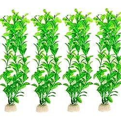 danmu Art 425cm Kunststoff Künstliche, Wasserpflanzen Aquarium Pflanzen für Fische Tank