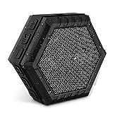 VTIN Altoparlante Bluetooth 5W Driver Esterno Portatile IPX4 Impermeabile, Cassa Bluetooth Stereo con Basso Waterproof Dustproof Crashproof, Nero