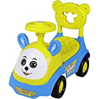 Fun Ride Kids Push Car Rabbit Toy Car Backrest and Under Seat Storage Utility Box with Music Horn for Baby (Age 1 to 3…