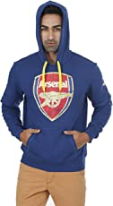 Arsenal AFC Fan Hoody Sweatshirt, Men's Large (Blue)