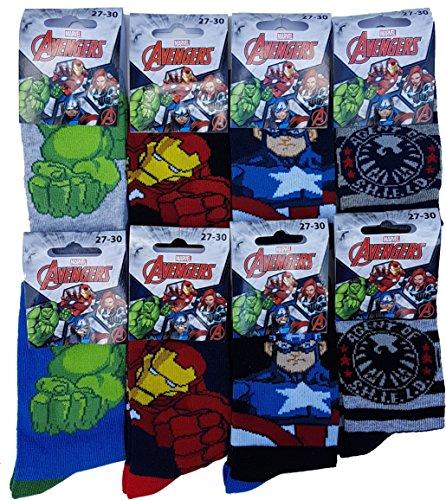 Avengers. Chaussettes enfant Marvel fantaisie. Modèle photo assorti selon arrivage Avengers.