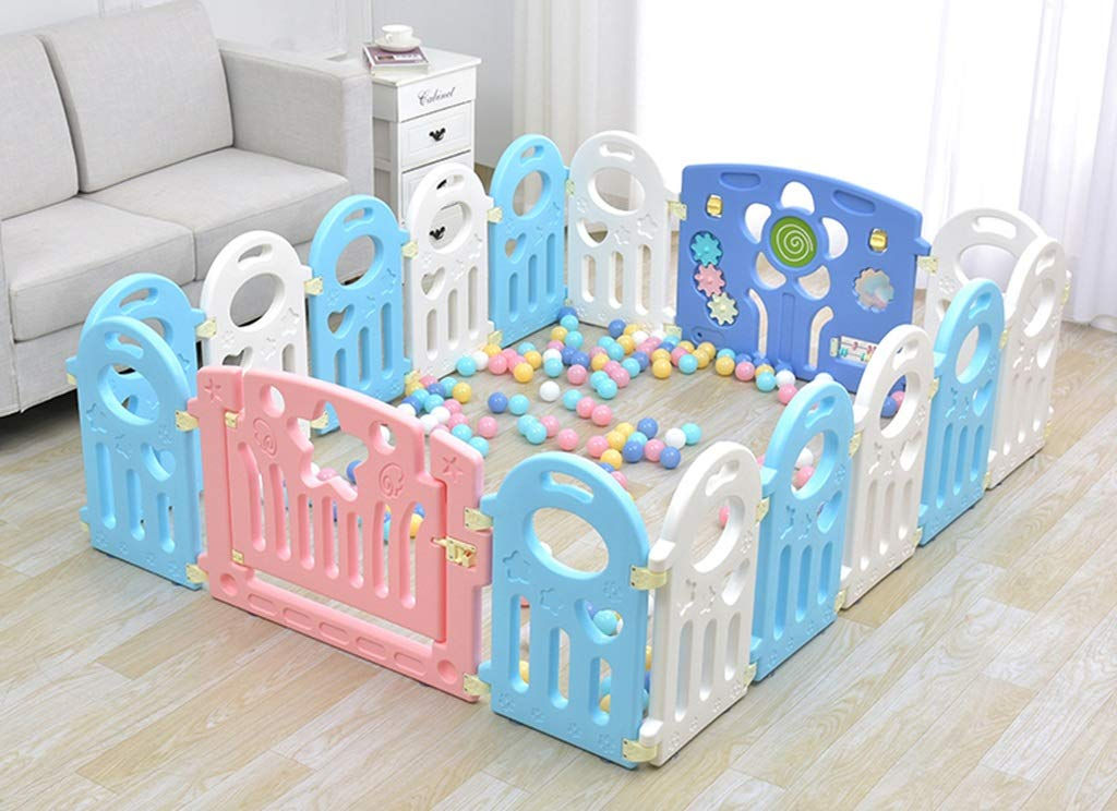 """HWZPPP KJZhu Infant Game Fence, Bedroom Living Room Baby Crawl Learning To Walk Protective Fence Indoor Playground Ocean Ball Pool 40-80CM Foldable HWZPPP ◆: High-quality and environmentally-friendly materials, easy to install, large space, stable to use, easy to carry; ◆: This product does not contain other accessories ------- To learn more styles, please search for """"HWZPPP"""" on Amazon.com, I wish you a happy life! ★Guarantee: If you provide us with photos after product logistics and shipping damage, we can replace or refund them for free; 2"""