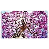 ge Bildet® hochwertiges Leinwandbild XXL - Rosa Lapacho Baum in Pocone - Brasilien - 165 x 100 cm mehrteilig (3 teilig) 2208 B