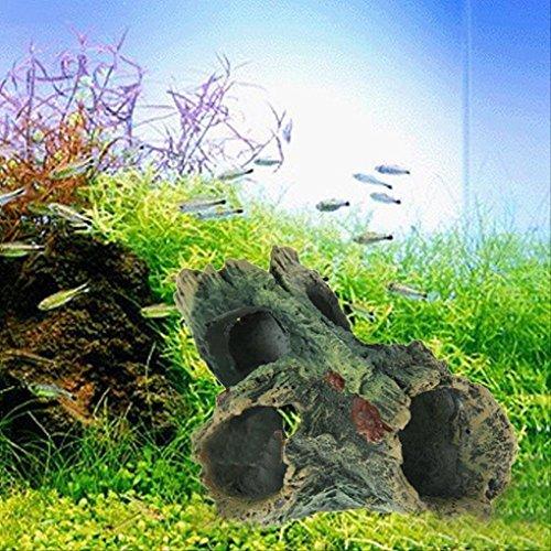 Topker Aquarium Fisch Tank Resin Handwerk Ornament Trunk Treibholz Höhle Dekoration Holz Form (Fisch Trunks)