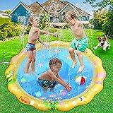 LUKAT Splash Pad Wasserspielzeug Sprinklermatte Spielmatte Garten Outdoor für Kinder Jungen und Mädchen 59 Zoll