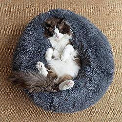 Monba Luxuriöses Hundebett Flauschiges Haustierkissen Katzensofa rutschfeste Waschbar Tier Schlafplatz Matratze für Katzen kleine, Mittelgroße, Große Hunde