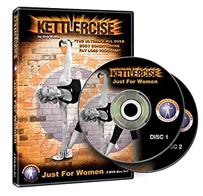 Kettlercise Just For Women Vol 1, 2 Disc DVD Set - Ultimate Kettlebell Fat Loss & Body Tone Workout Program by Kettlebell Seminars Ltd