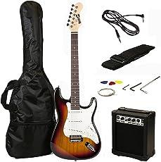 RockJam RJEG02-SK-SB Electric Gitarre Set sonnendurchbruch