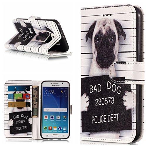 FNBK Kompatibel mit Hülle Samsung Galaxy S6 Edge Handyhülle Marble Tasche Leder Flip Case Brieftasche Schutzhülle Galaxy S6 Edge Klappetui mit Kartenschlitz Ständer,Schlechter Typ -