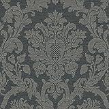 Luxus Edition edle Tapeten Barock Stil Klassik KENSINGTON Ornament mit Glitzer graubraun