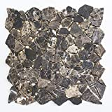 Mosaikfliesen Fliesen Mosaik Küche Bad WC Wohnbereich Fliesenspiegel Marmor Bruch Boden 7mm #K481
